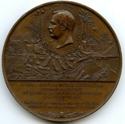 Egypt Channel Of Suez Inauguration By The Empress Medal 1869 Paris