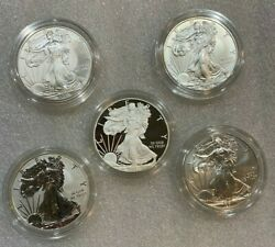 Us Mint American Eagle 25th Anniversary Silver Coin Set - 2011 5-coin Set Ogp