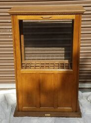 Antique Oak Cane Display Case A.n. Russell And Sons General Store Ilion Ny