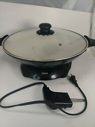 Oster Duraceramic Electric Wok W/ Cord Thermostat Heat Controlled Non-stick Cook