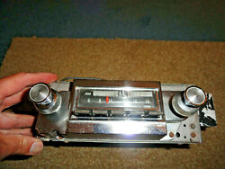 1966 Chevy Pass. Impala Ss Caprice Delco Am Fm Radio Untested Very Clean Looking