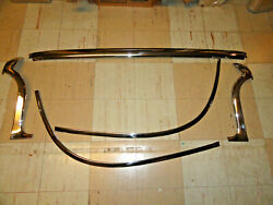 59-60 Chevy Impala Conv. Complete Set 5 Windshield Outer Stainless Moldings Show