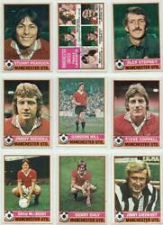 Manchester United Signed Topps Football Set 1977 1978 Red Backs Pick Your Card
