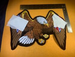 """P7-60 Motorcycle Patch - Confederate Eagle - 13"""" X 9.5"""""""