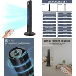 Tower Fan- Oscillating Fan With Remote Cooling Quiet Large Led Display 12-ho