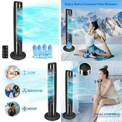 Evaporative Air Cooler Tower Fan With Remote Oscillation Quiet Cooling Fan For