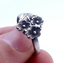 Silver Spoon Ring Reed And Barton Harlequin Forget Me Not Spoon Size 7