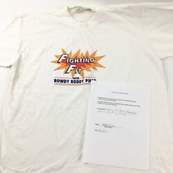 Fighting Fit With Rowdy Roddy Piper Worn By Roddy Size L Comes With Coa C1