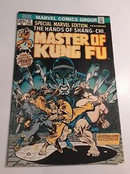 Special Marvel Edition 15 Master Of Kung Fu 1st App Of Shang-chi Comics
