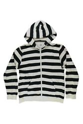 Visvim Black And White Striped Hoodie Owned By Lil Yatchy