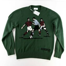 Ovadia And Sons Betar Soccer Green Pullover Sweater Size Xl 490