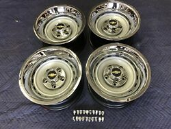 1971-87 Chevy C10 Truck 5 On 5 15x8 Gm Original Truck Rallys,new Rings And Caps