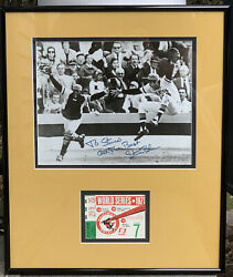 1971 Pittsburgh Pirates World Series Celebration Game 7 Ticket And Photo Display