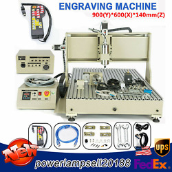 Usb 2200w 4 Axis 6090 Router 3d Engraver Mill Drill Carving Machine+controller