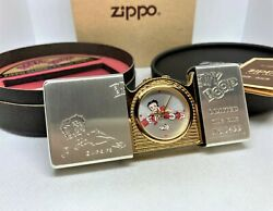 New Auth Zippo 1996 Limited Edition Betty Boop Time Tank Pocket Watch W Box