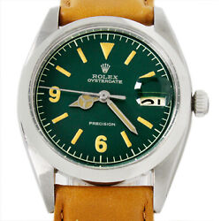 Rolex Oyster Date Precision Hulk Explorer Style 6494 Menand039s Winding Steel Watch