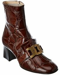 Tods Kate Leather Bootie Women#x27;s Brown 37 $499.99