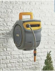 Hozelock Auto Reel 30m Auto Rewind Garden Wall Mounted Retracting With Hose Pipe