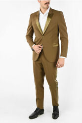 Neil Barrett Men Formal Outfits Two Button Skinny Fit Suit With Peaked Lapel