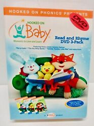 Hooked On Phonics Presents Hooked On Baby Read And Rhyme Dvd 3 Pack New