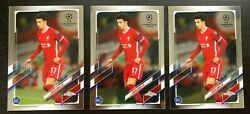 Lot Of 3 - 2020-2021 Topps Chrome Champions League Curtis Jones Rc Liverpool