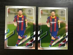 Lot Of 2 - 2020-2021 Lionel Messi Topps Chrome Uefa Champions League Barcelona