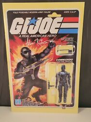 G.i. Joe Arah 219 Subscription Cover Snake Eyes Signed By Adam Riches W/ Coa