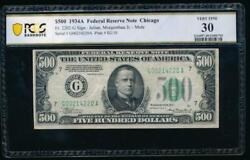 Ac 1934a 500 Five Hundred Dollar Bill Chicago Pcgs 30 Comment