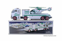 Nib Mint 2006 Hess Collectible Toy Truck And Helicopter With Original Bag