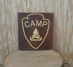 Campfire Icon/carved Rustic Wood Sign/recreational/cabin/lodge/décor/camping