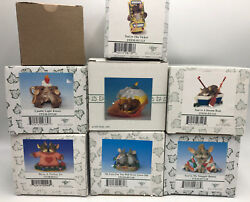 Fitz And Floyd Charming Tails Collectible Mouse Mice Figurines Lot Of 8