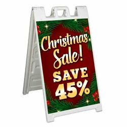 Christmas Sale Save 45 Signicade 24x36 A Frame Sidewalk Sign Double Sided