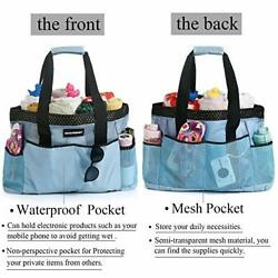 Mesh Beach Bag Extra Large Travel Tote Bags With 8 Oversized Pockets Swimming $22.28