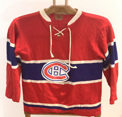 Montreal Canadiens Gck Vintage 1960s Hockey Jersey Sweater Size Small Habs
