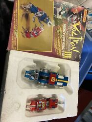 Matchbox Voltron Iii Red And Blue Mighty Lion Robot Set 1984 Vintage Toys Die Cast