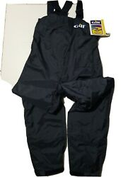 Nwt Gill Salopettes Waterproof Sailing Overalls Coverall Bibs Pants Navy Sz M