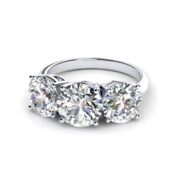 Womenand039s Round 1.10 Ct Solid 950 Platinum Real Diamond Engagement Ring Size 5 6 7
