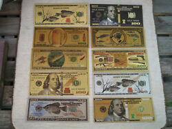 10 Pack Banknotes Non Paper Note Dollar Bills Us Coins Federal Money Reserve