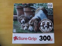 Beagle Puppies Puzzle Extra Thick BIG EASY TO GRIP Pieces Sure Grip 300 pcs