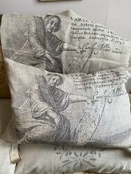 Vintage Style Cushion Cover. French Home Decor Linen Furnishings And Styling 1pc