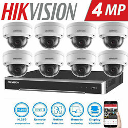 Hikvision 4mp Dome Cctv System Poe Plugandplay Home Store Business Security Kits