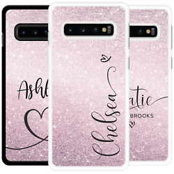 Personalised Case Name Rose Gold Name Cute Gift Cover For Samsung S10 S20 S8
