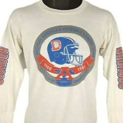 Denver Broncos T Shirt Vintage 80s 1984 Nfl Football Made In Usa Size Small