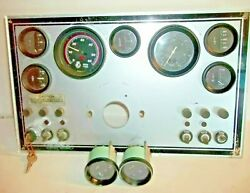 Boat Complete Gauge Clusterkeys Switch Toggle Switchesfuses 18 X 11 Panel