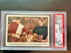 1959 The Three 3 Stooges 63 Checklist Curly, The First ... Psa 4mk Look