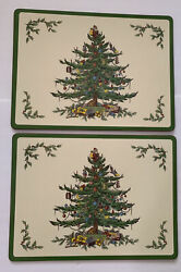 Pimpernel Christmas Tree Holiday Placemats Set Spode Set Of 2 Made In England