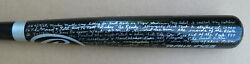 Detroit Tigers Denny Mclain Signed Blackbat With Mickey Mantle Gift Hr Story Jsa