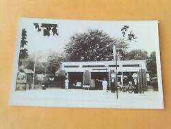 Rppc Ad Shell Gasoline Service Station Gas Globes Goodyear Tires Motor Oil Sign