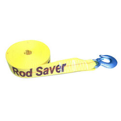 Rod Saver Heavy-duty Winch Strap Replacement Yellow 2 X 30and039 Wsy30