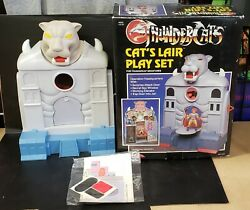 1986 Kid Works Thundercats Catand039s Lair Play Set Mini Figures Catslair In Box New